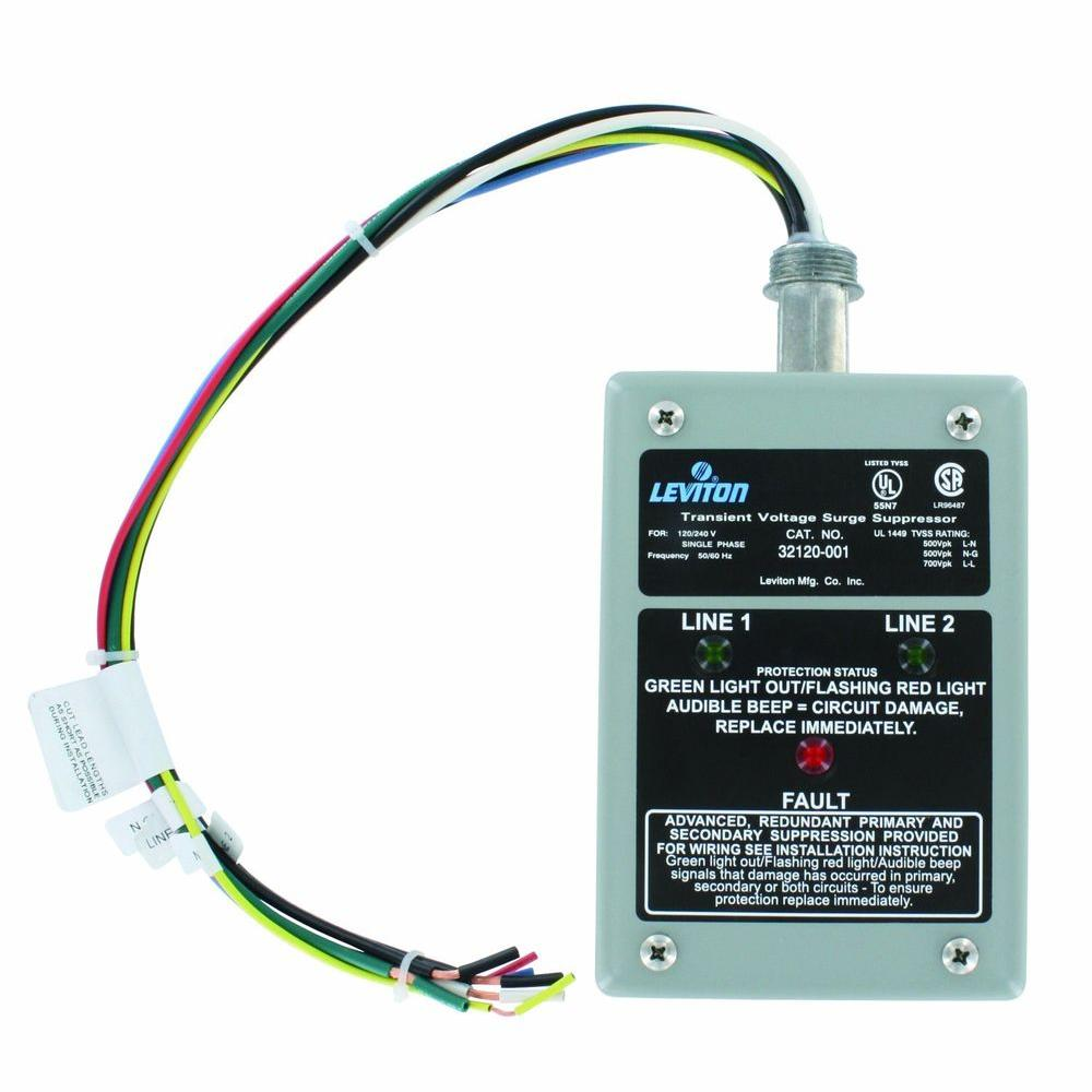 Leviton Wiring Panel Home House Diagram Symbols 120 And 240 Volt Receptacles How To Install A Switch Or Receptacle Single Phase Surge 32120 1 The Depot Rh Homedepot Com Outlet Electrical Devices