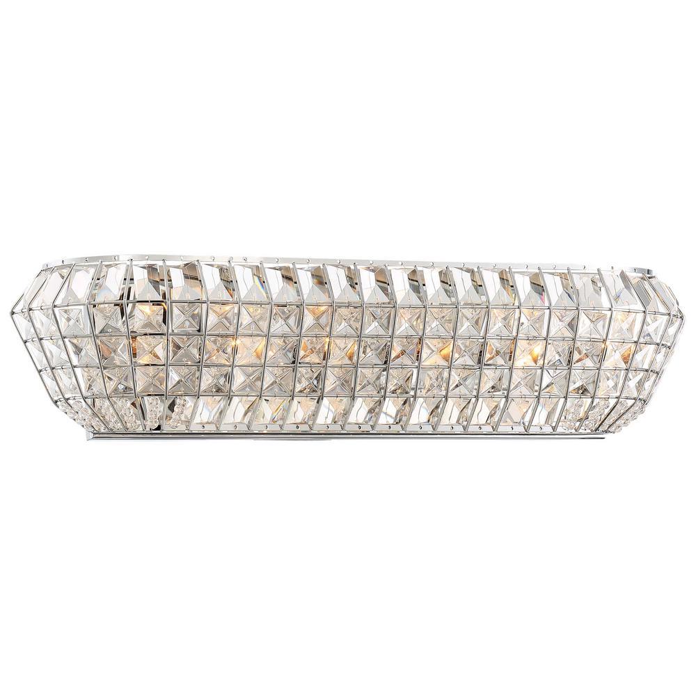 Braiden 6-Light Chrome Vanity Light