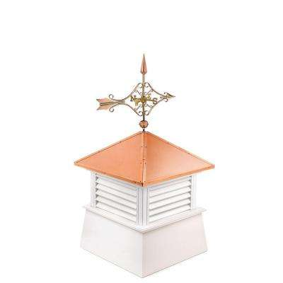 Manchester 26 in. x 26 in. x 54 in. Vinyl Cupola with Cottage Victorian Arrow