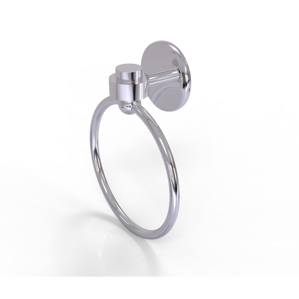 Allied Brass Satellite Orbit One Collection Towel Ring in Polished Chrome