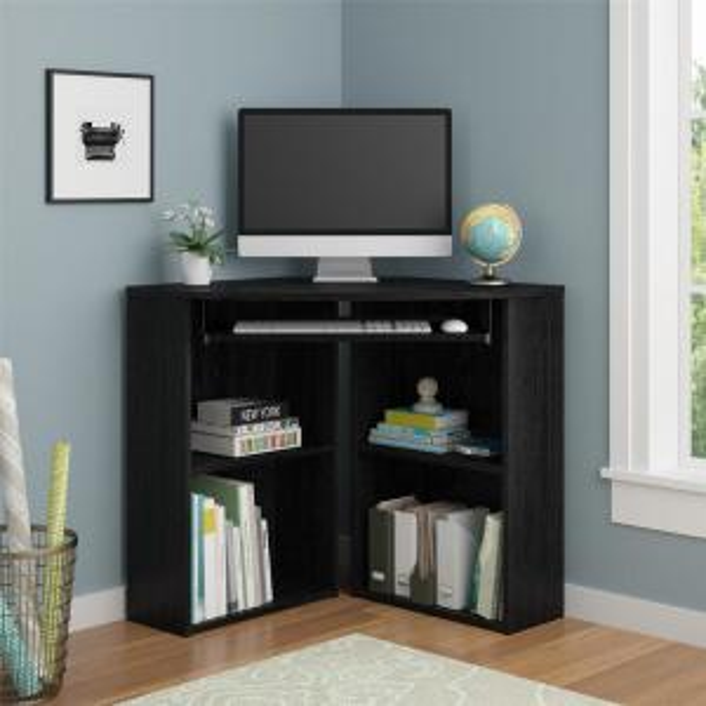 Ameriwood Home Truman Black Oak Corner Desk HD40838 - The ...