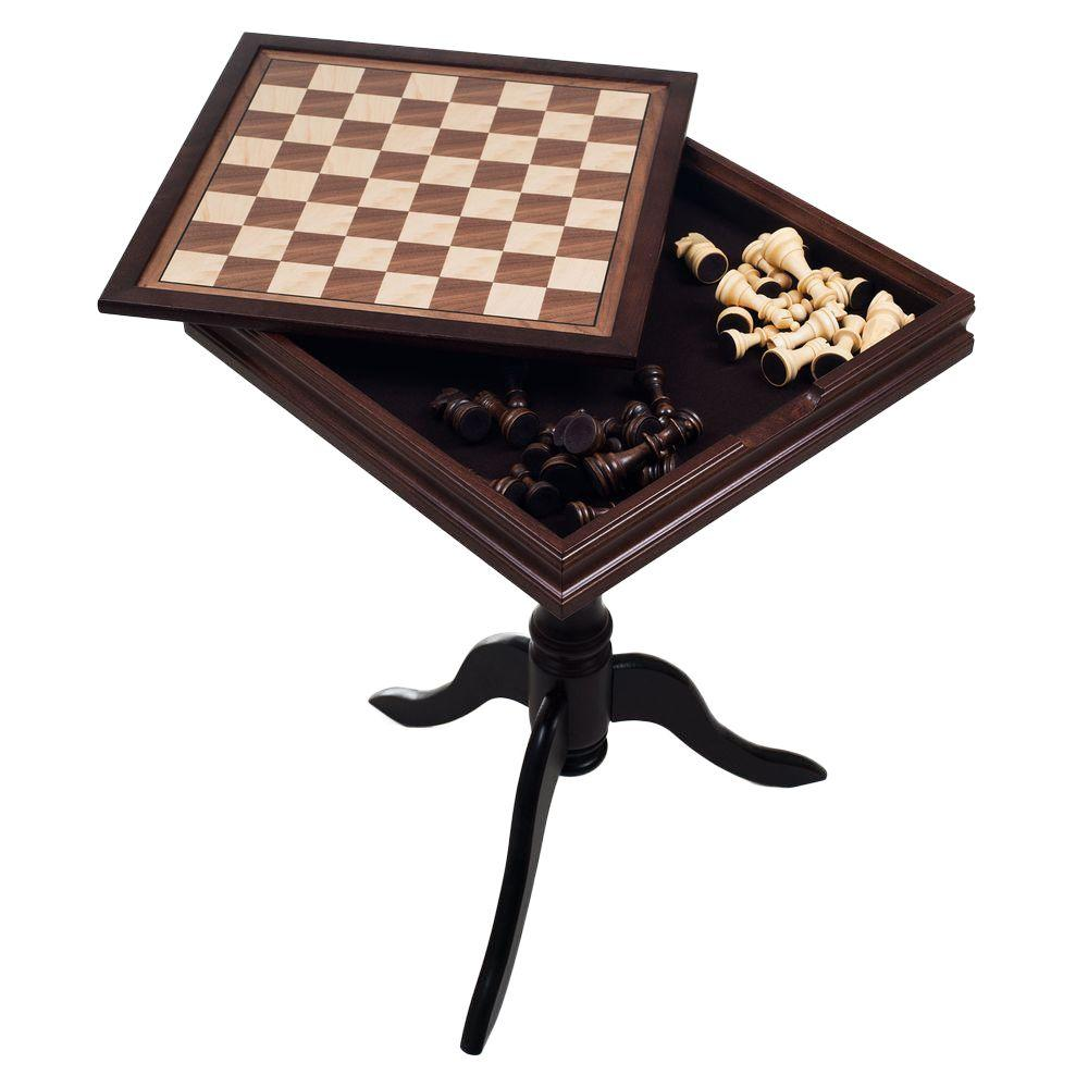 Trademark Games Deluxe Wooden Chess And Backgammon Table Set