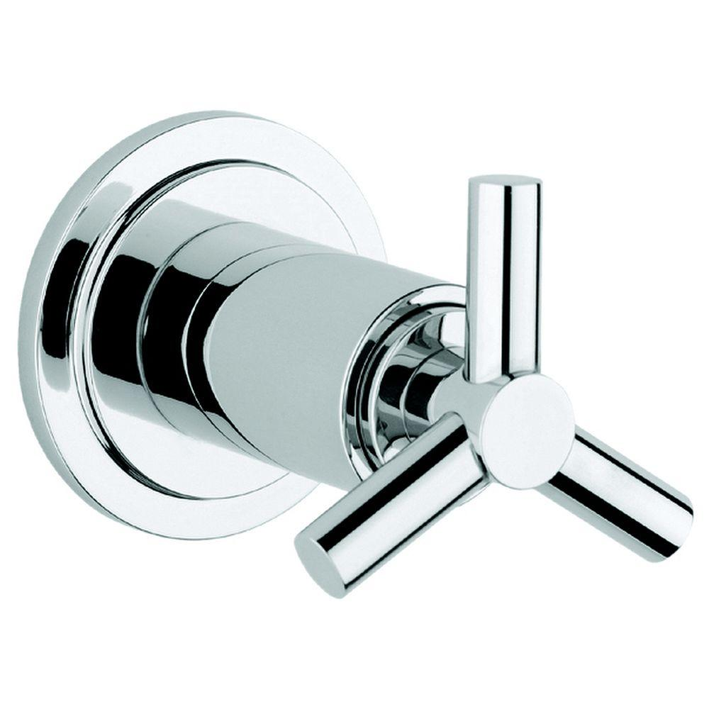 GROHE Atrio Single Handle Volume Control Valve Trim Kit with Trio Spoke Handle In StarLight Chrome (Valve Sold Separately)