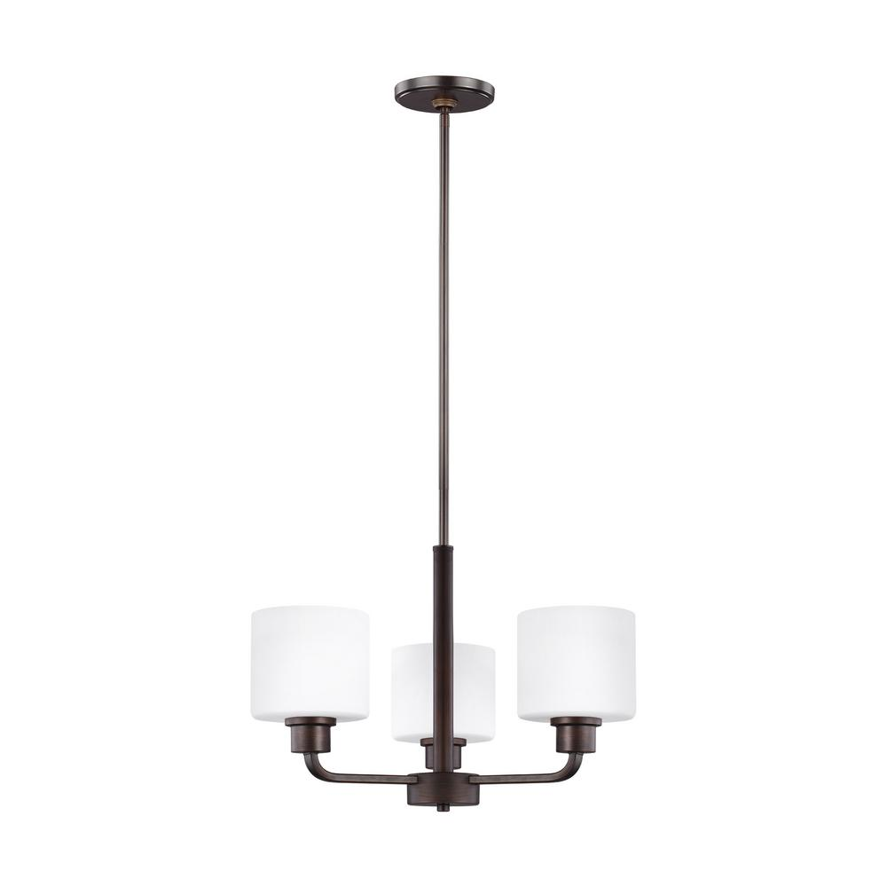 Canfield 3-Light Burnt Sienna Chandelier