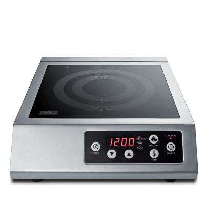 13 in. Commercial Smooth Ceramic Glass Induction Modular Cooktop in Black with 1-Element