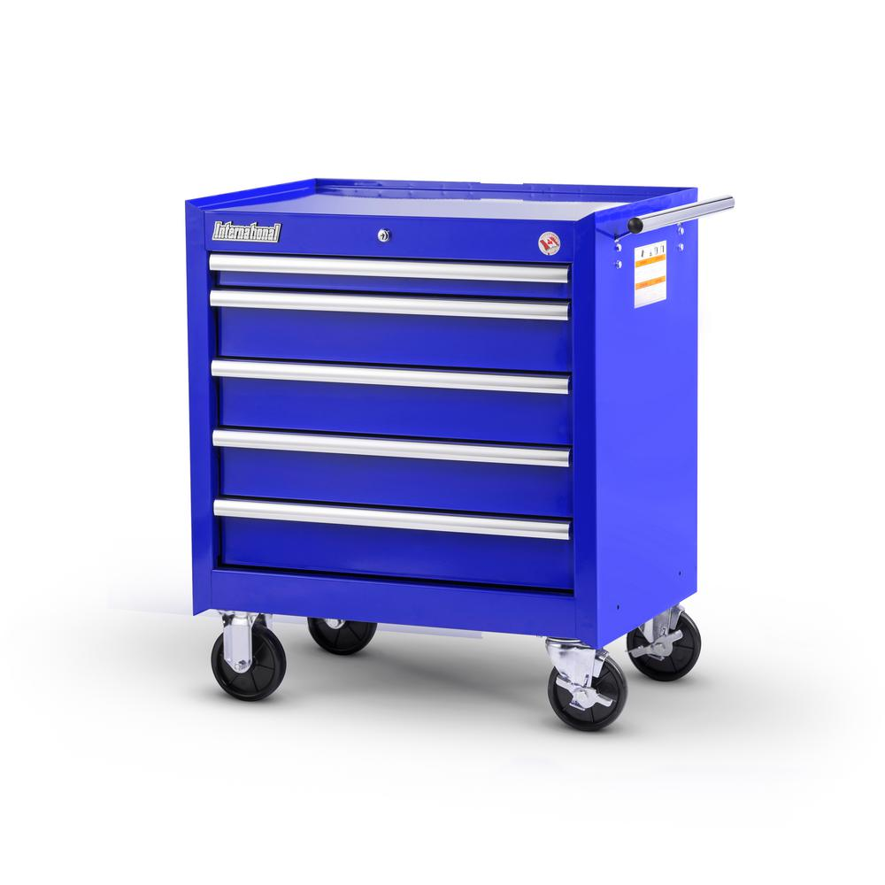 Tech Series 27 in. 5-Drawer Roller Cabinet Tool Chest Blue