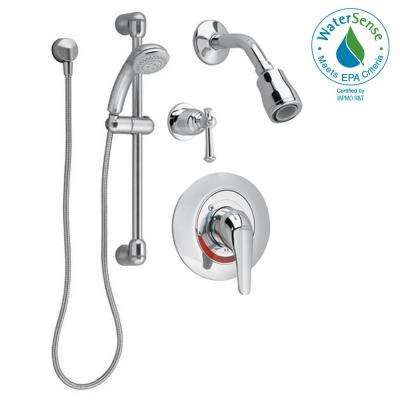 Commercial Water-Saving 36 in. Shower System with Hand Shower, 2-Way Diverter and Shower Only Trim in Polished Chrome