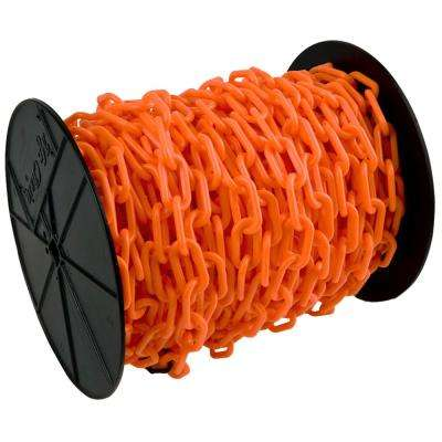 1.5 in. (#6, 38 mm) x 200 ft. Reel Safety Orange Plastic Chain