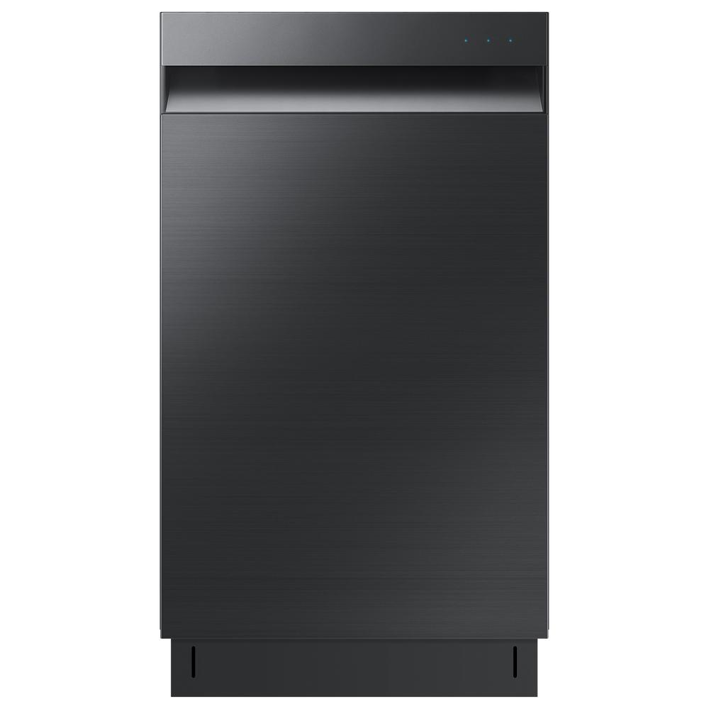 18 in. Top Control Dishwasher in Fingerprint Resistant Black Stainless, AutoRelease Door Drying, 46 dBA