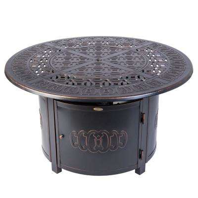Dynasty 44 in. x 24 in. Round Aluminum LPG Fire Pit