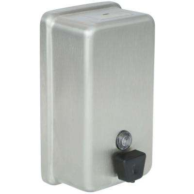 Vertical Wall-Mount Liquid Soap Dispenser in Stainless