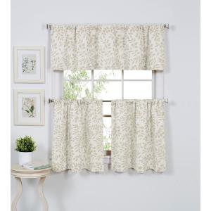 Serene 60 inch W x 15 inch L Cotton Single Window Curtain Valance in Linen by