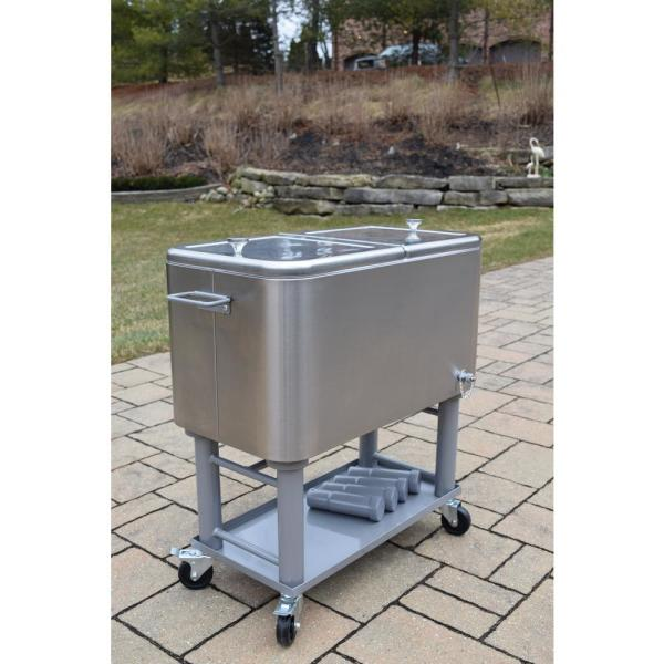 Stainless Steel 15 Gal Party Cooler