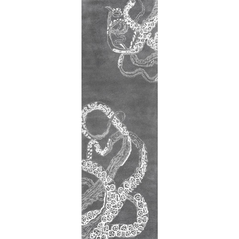 Octopus Tail Midnight Blue 3 ft. x 8 ft. Runner Rug