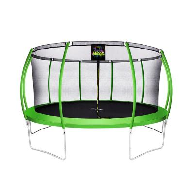 15 ft. Green Apple Pumpkin-Shaped Outdoor Trampoline Set with Premium Top-Ring Frame Safety Enclosure