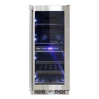 15 in. 13-Bottle Wine and 28-Can Beverage Cooler