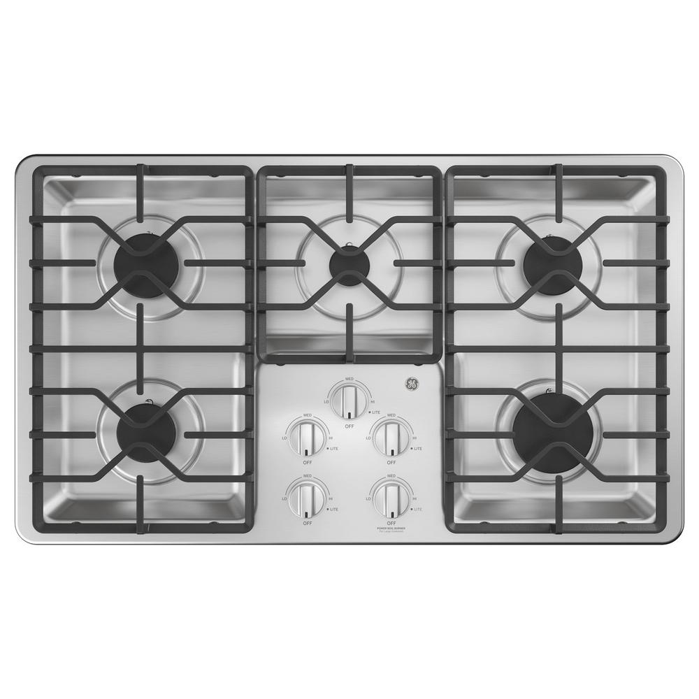 High Quality GE 36 In. Built In Gas Cooktop In Stainless Steel With 5 Burners Including