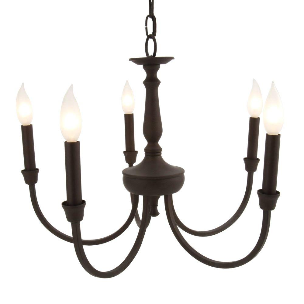 Thomas Lighting Winston 5-Light Chandelier In Painted Bronze Finish -Discontinued