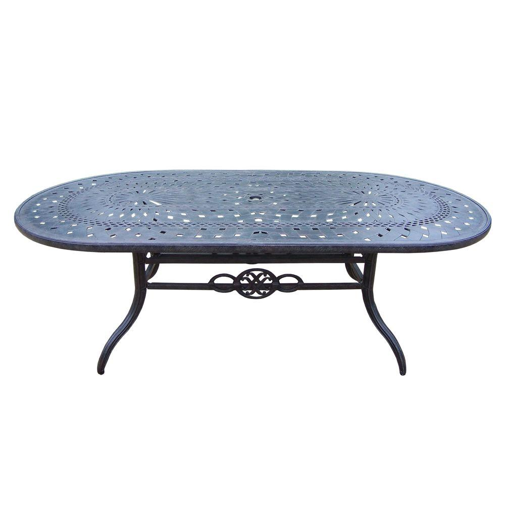 Belmont Aluminum Oval Patio Dining Table