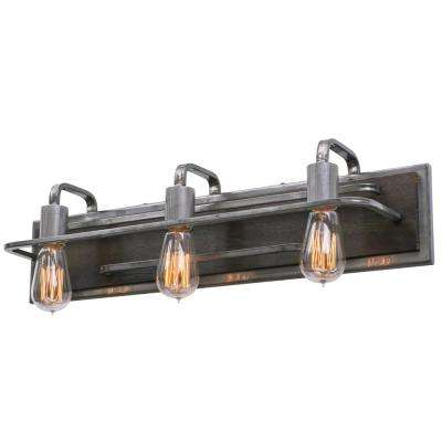 Lofty 3-Light Steel Vanity Light