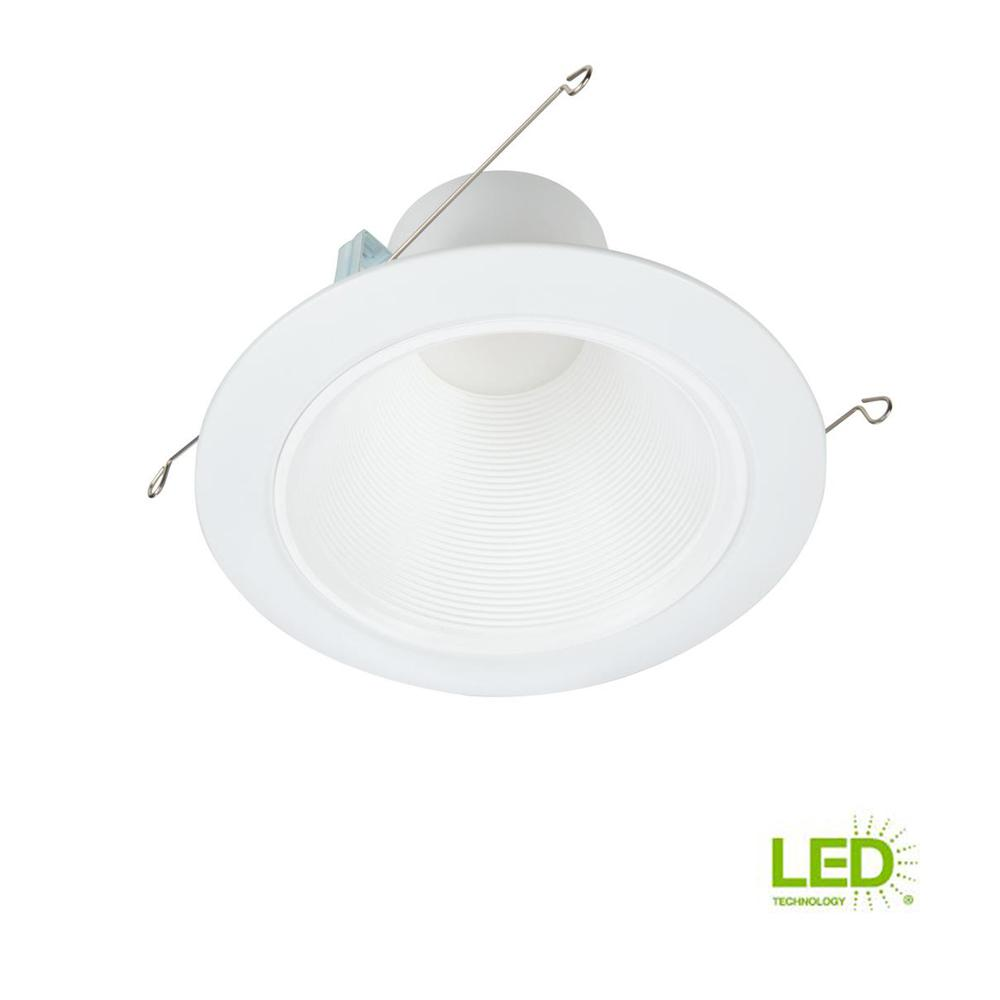 halo rl 5 in and 6 in white integrated led recessed light retrofit