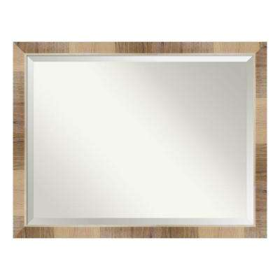 Natural White Wash Bathroom Vanity Mirror