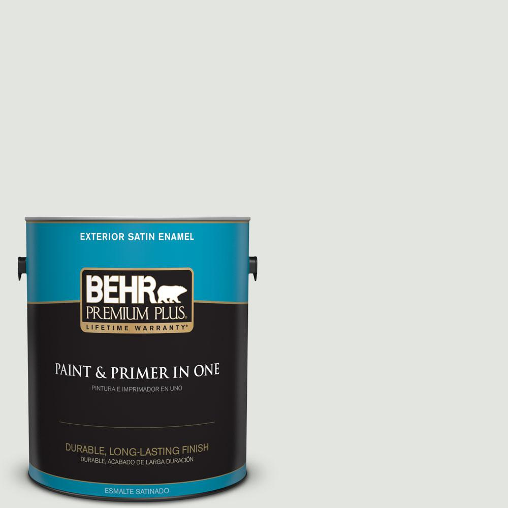 1-gal. #BL-W12 Canyon Wind Satin Enamel Exterior Paint