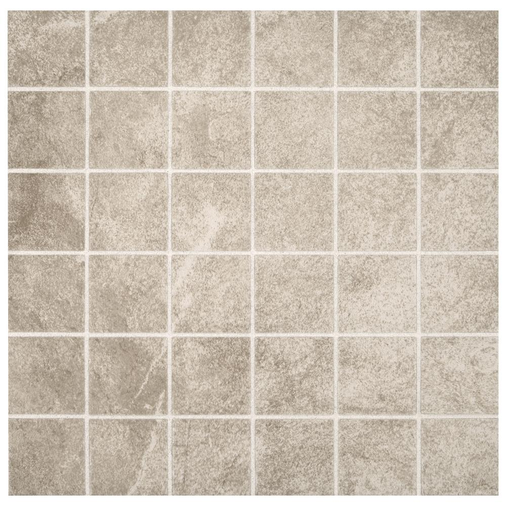 Portland Stone Gray 12 In X 12 In X 635 Mm Ceramic Mosaic Tile