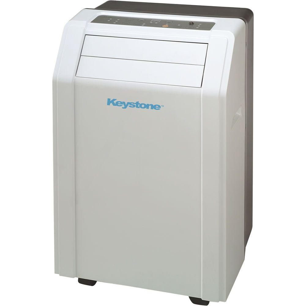 Keystone 12,000 BTU 115-Volt Portable Air Conditioner with Follow Me LCD Remote Control