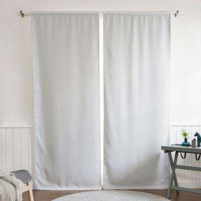 Blackout Window Curtain Liner 35 in. W x 92 in. L in Vapor