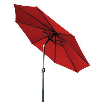 10 ft. Market Tilt Crank Patio Umbrella in Red