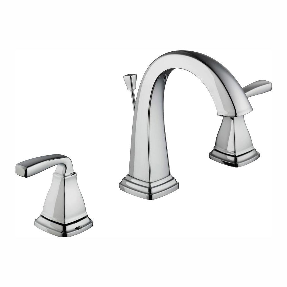 Glacier Bay Mason 8 in. Widespread 2-Handle High-Arc Bathroom Faucet in Chrome