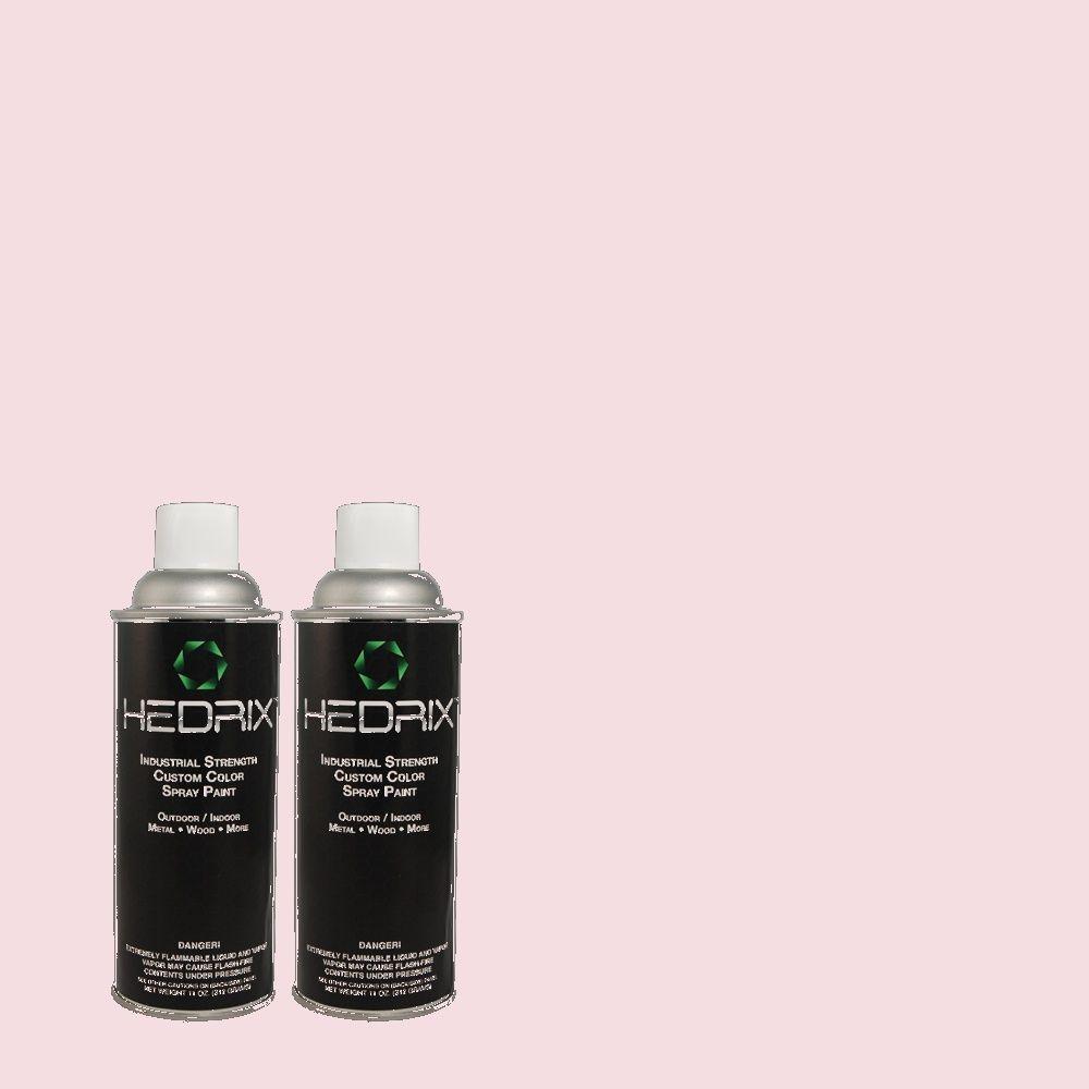 Hedrix 11 oz. Match of 2B32-1 Raspberry Sorbet Flat Custom Spray Paint (2-Pack)