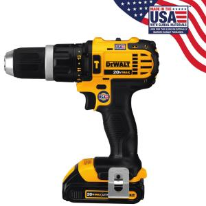 Dewalt 20-Volt MAX Lithium-Ion Cordless Compact Hammer Drill/Driver Kit with (2) Batteries 1.5Ah, Charger and... by DEWALT