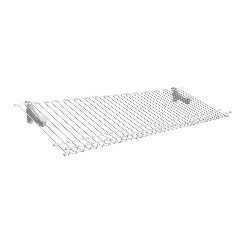 ShelfTrack 11.25 in. D x 36 in. W x 4 in. H 5-Pair Ventilated Wire Shoe Shelf Steel Closet System