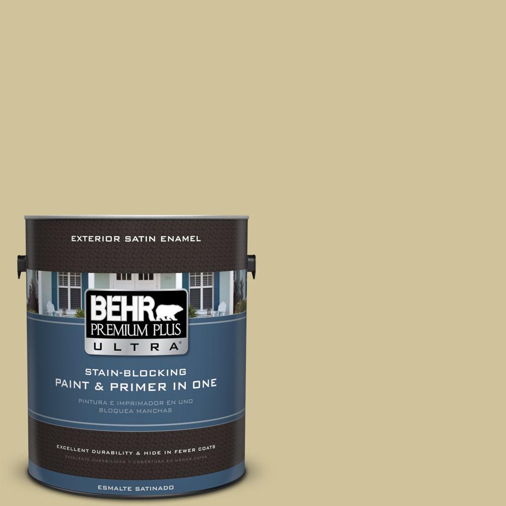 BEHR Premium Plus Ultra 1-gal. #390F-4 Outback Satin Enamel Exterior Paint