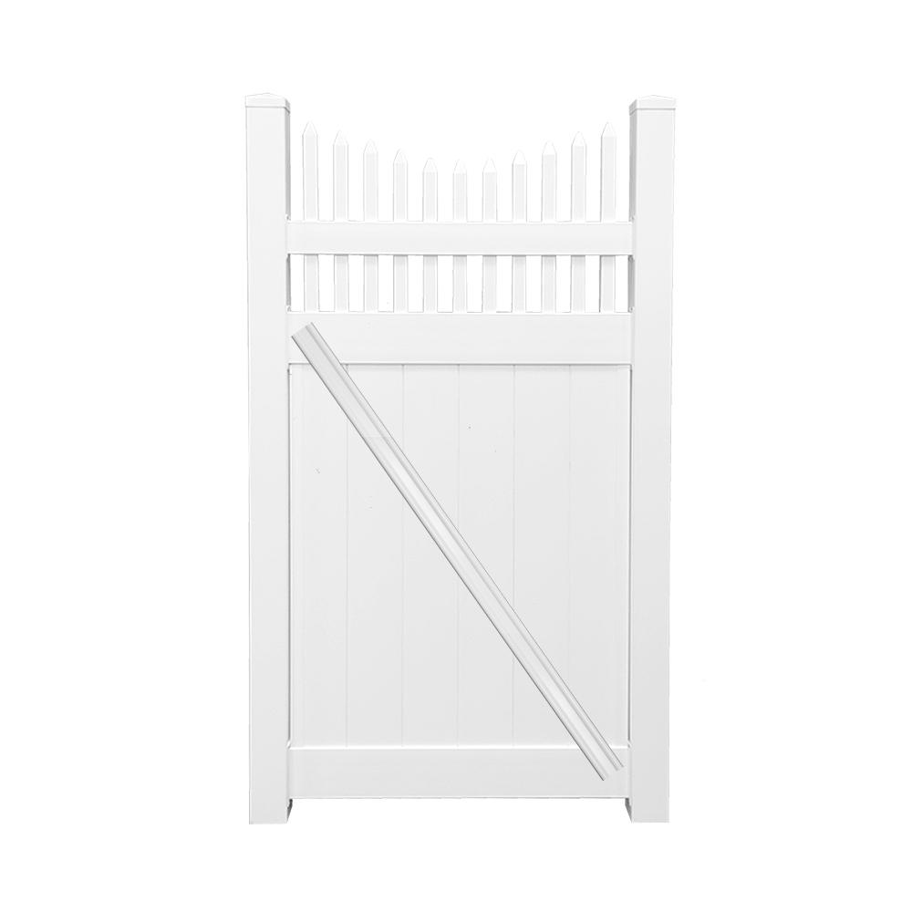 Fence Gate For Transitional Putting Up Electric Lattice Vinyl Fencing The Home Depot Halifax 37 Ft W X 6 H White Privacy
