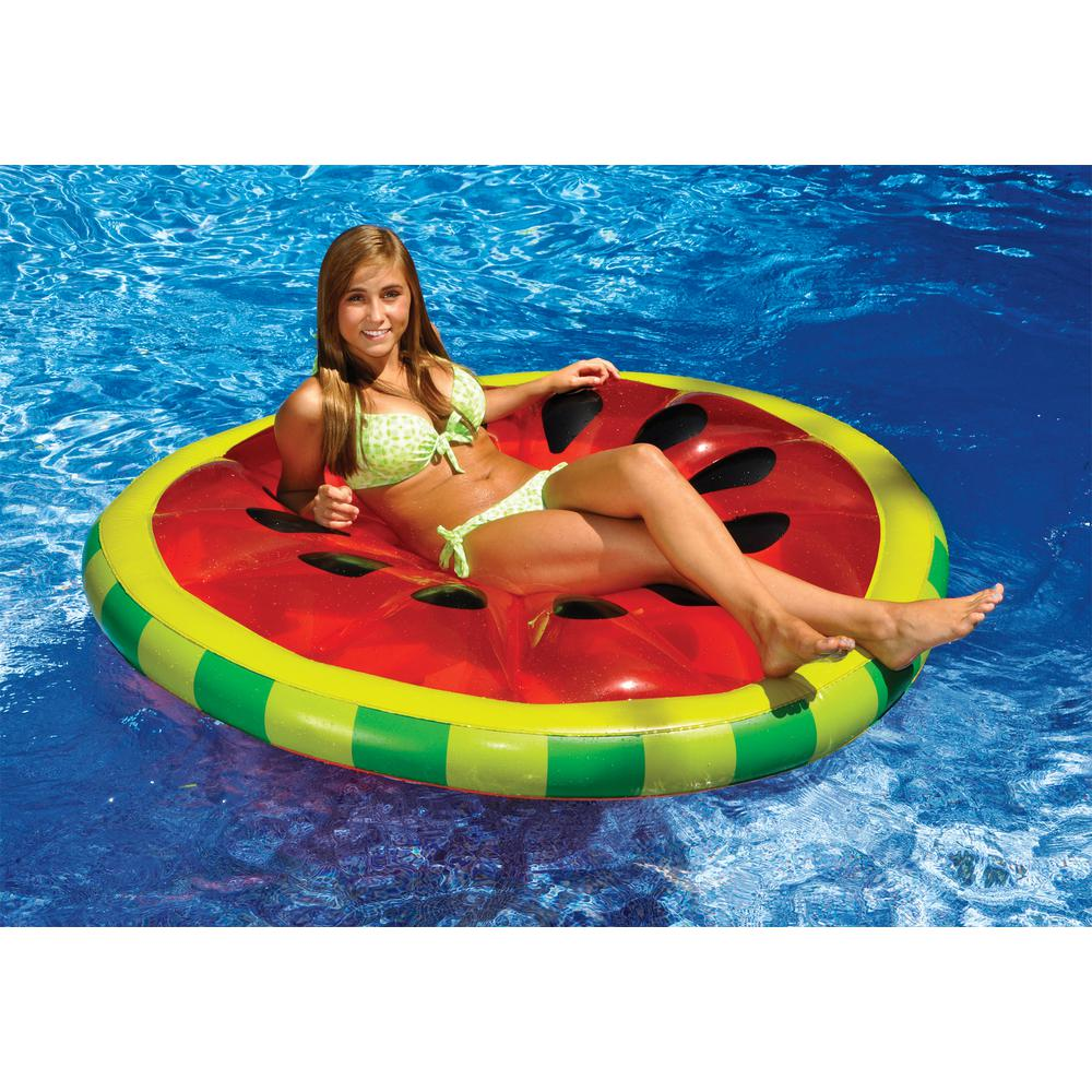 Swimline 60 in. Watermelon Slice Island Swimming Pool Float-90544 ...