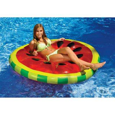 60 in. Watermelon Slice Island Swimming Pool Float