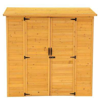 6 ft. 3 in. x 3 ft. 1 in. 6 ft. 1 in. Cypress Extra Large Storage Shed