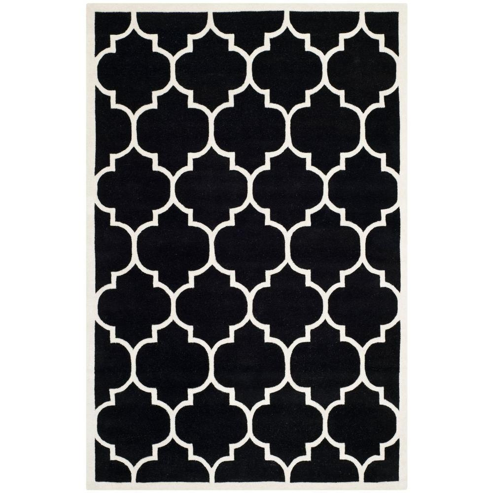Safavieh chatham black ivory 6 ft x 9 ft area rug - Home design carpet rugs woodbridge on ...