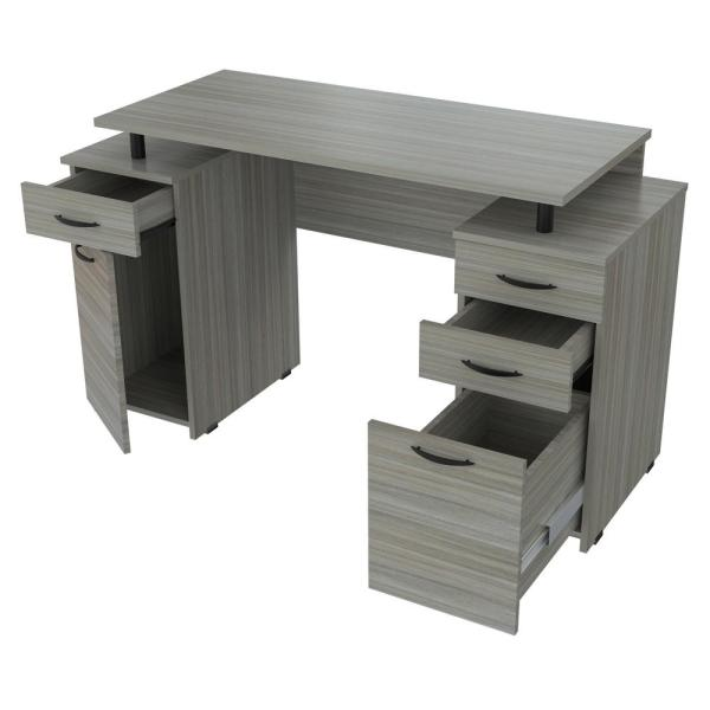 Smoke Oak Computer Desk