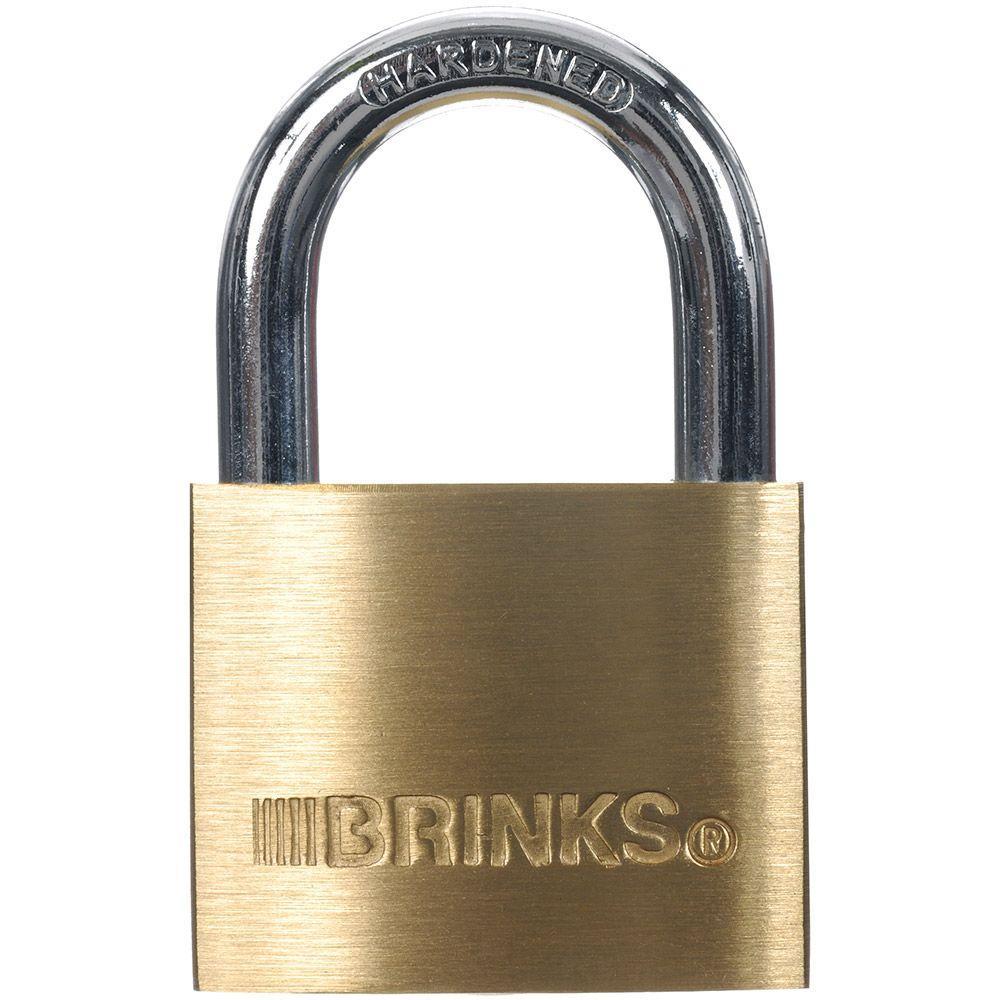 brinks 1 916 in 40 mm solid brass keyed lock