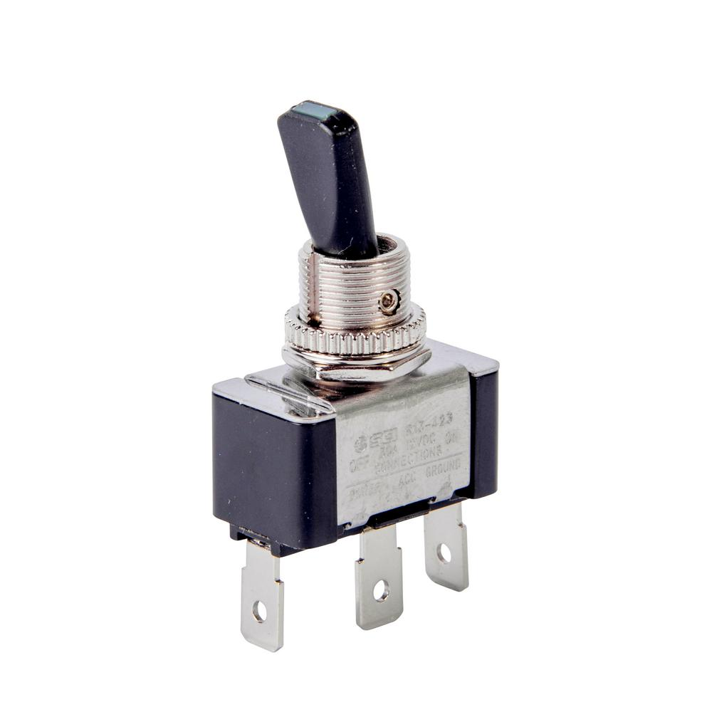 Calterm 30 Amp Green LED Illuminated Toggle Switch-40293 ...