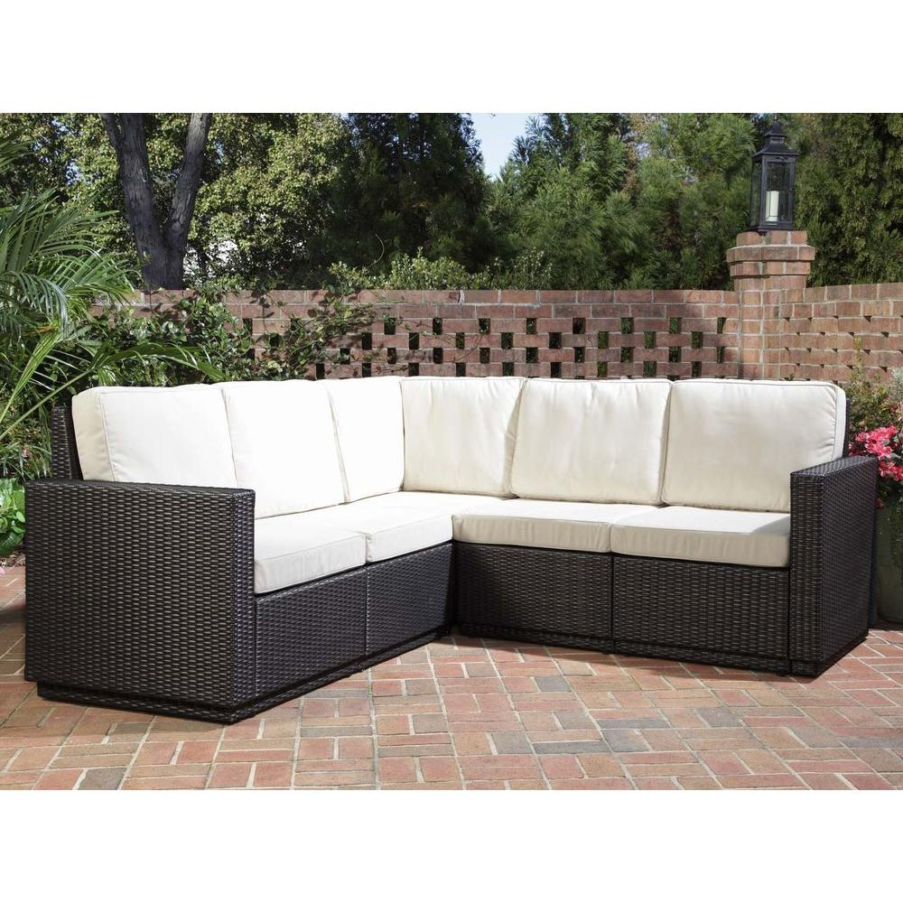 Home Styles Riviera Stone Patio Sectional Sofa-DISCONTINUED