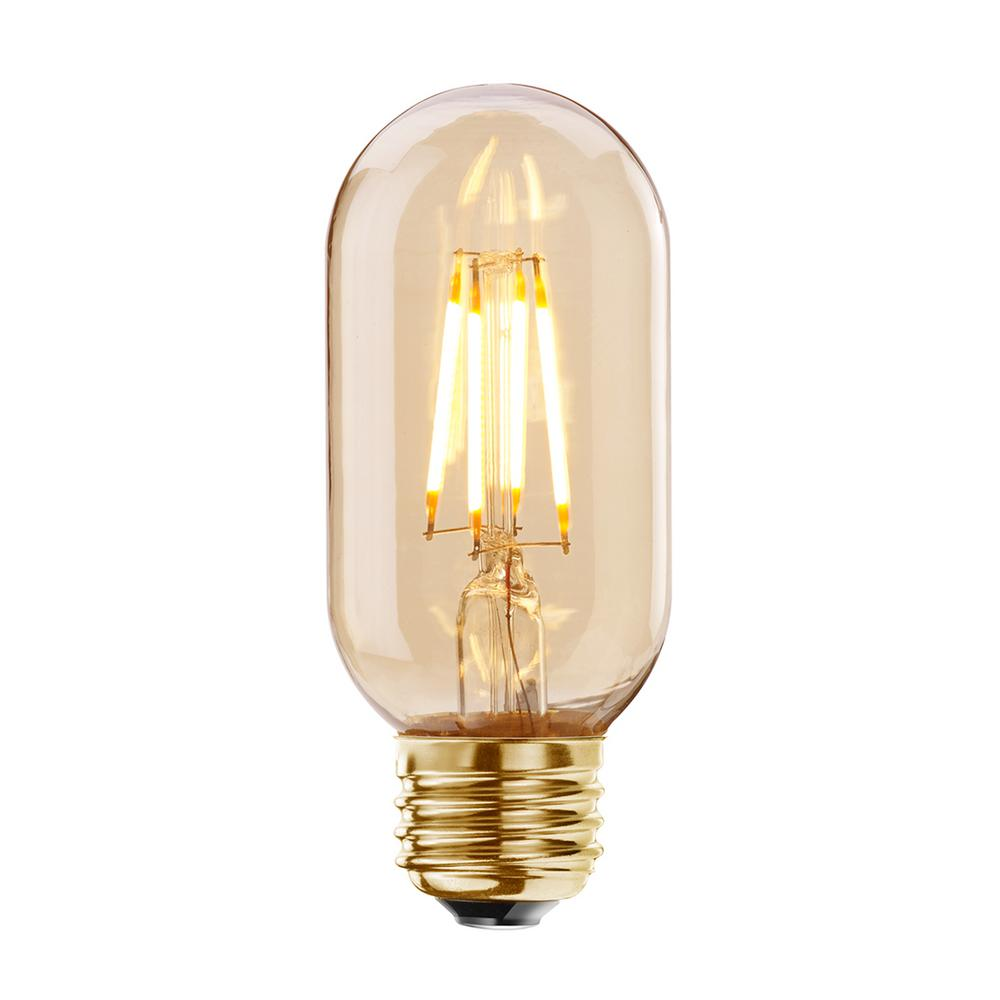 Bulbrite 40W Equivalent Amber Light T14 Dimmable LED ...