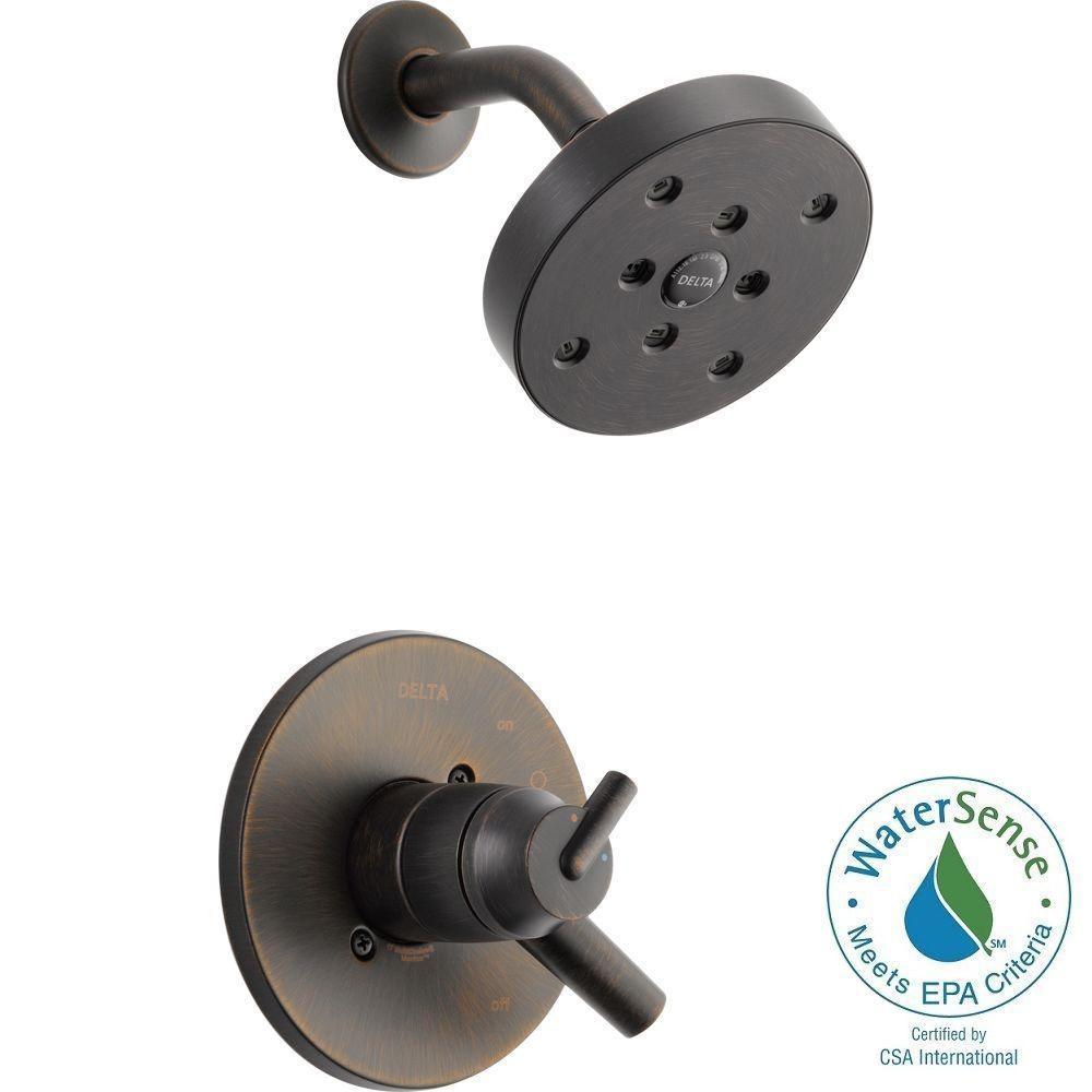 Trinsic 1-Handle Shower Only Faucet Trim Kit in Venetian Bronze (Valve