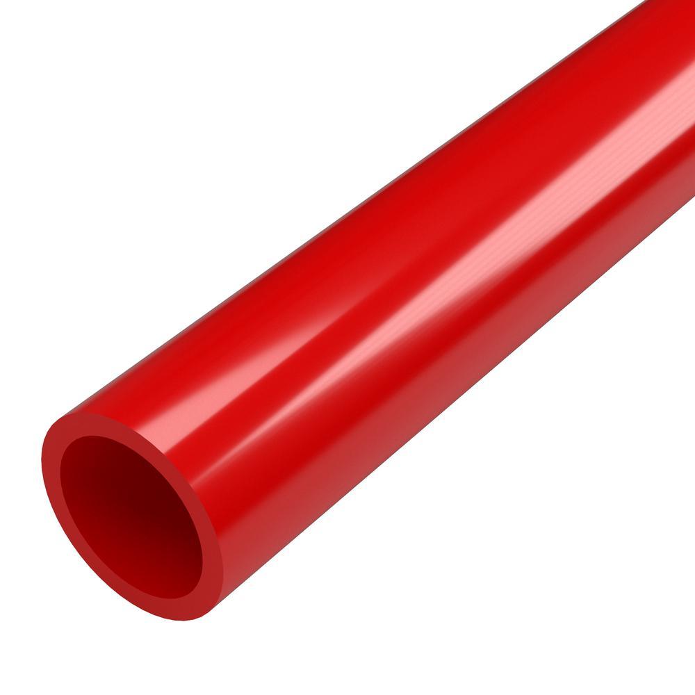 1-1/4 in. x 5 ft. Furniture Grade Sch. 40 PVC Pipe in Red