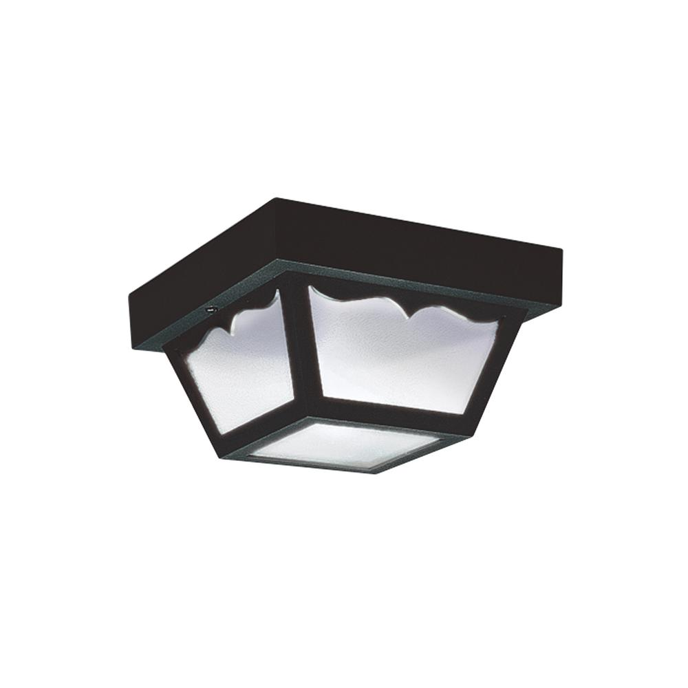 Sea Gull Lighting Outdoor Ceiling Clear 1-Light Outdoor ...
