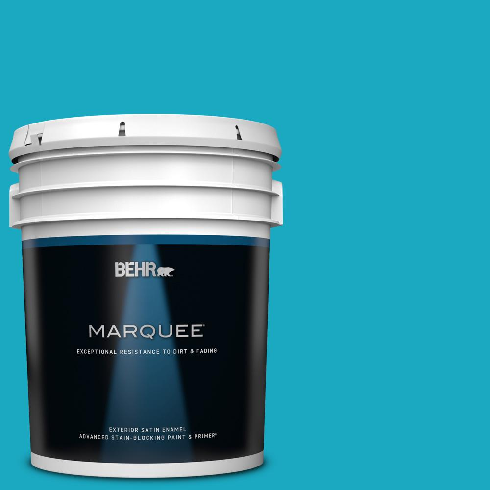 Behr Marquee 5 Gal P480 5 High Dive Satin Enamel Exterior Paint And Primer In One 945405 The Home Depot